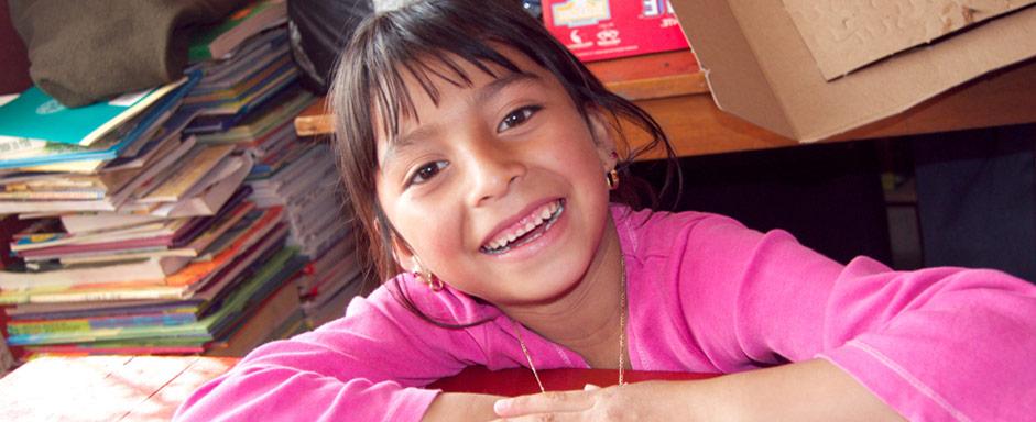 girl in La Pedrera classroom